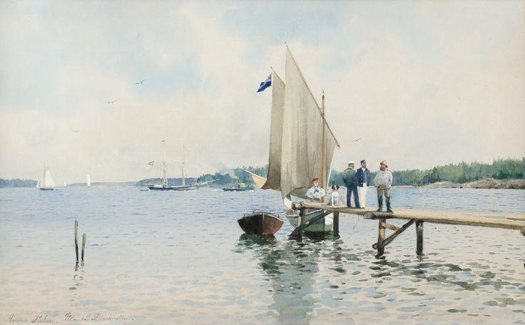 """Anna Palm de Rosa 1859-1924 """"Outside Stockholm""""."""