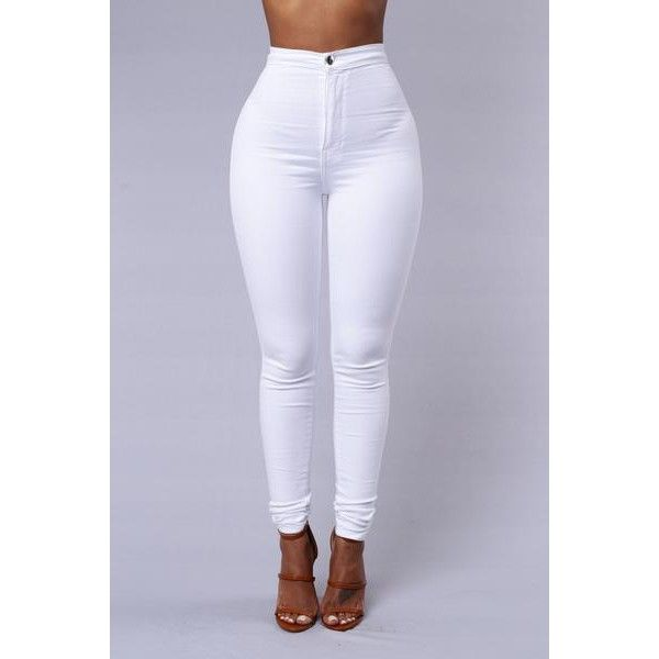 Super High Waisted Stretchy Skinny Jeans ($40) ❤ liked on Polyvore featuring jeans, skinny fit jeans, stretch denim skinny jeans, stretch jeans, high waisted denim skinny jeans and denim skinny jeans