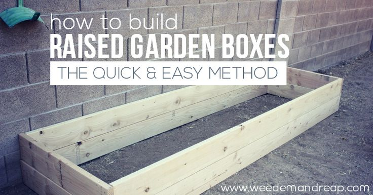 How to Build Raised Garden Boxes: The Quick and Easy Method