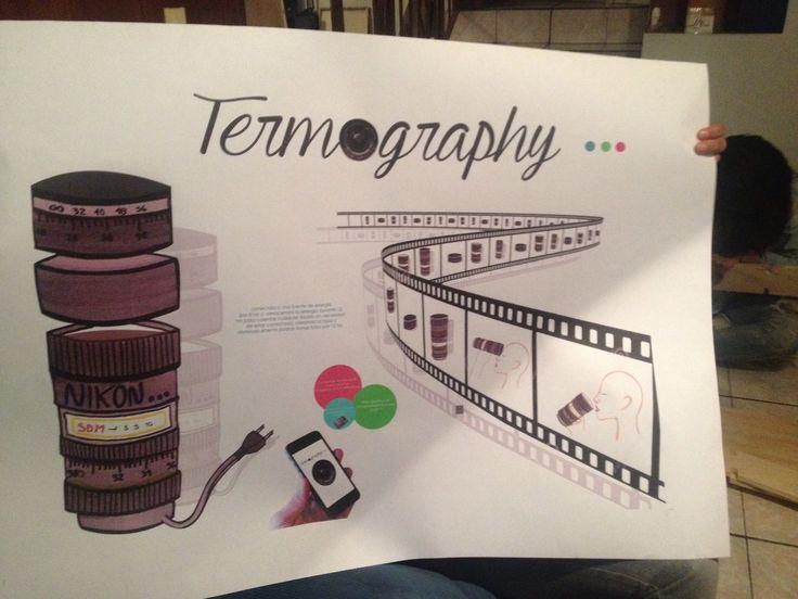 Termography invento mío termo para bebidas calientes , el calor de la bebida recarga batería y toma fotos