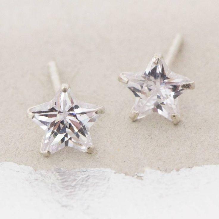 Liana Sterling Silver Star Earrings | £12