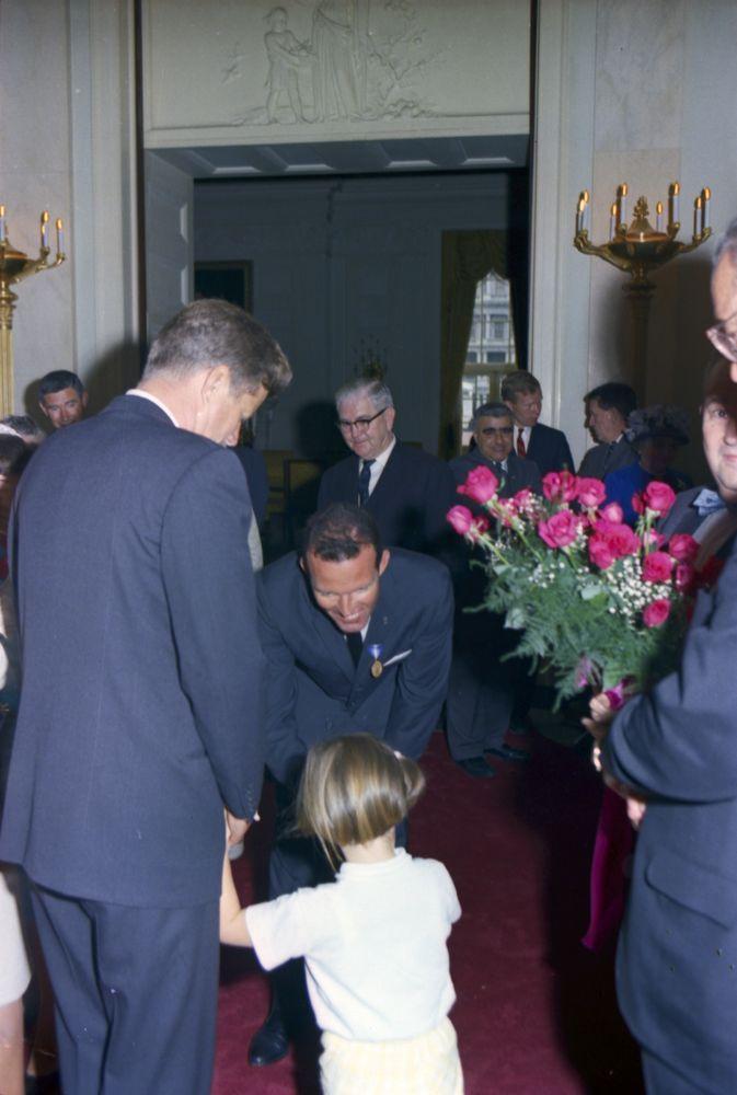 JFK, Caroline and Astronaut Major Gordon Copper
