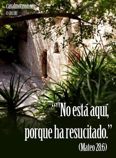 ¡Él ha resucitado! Reflexiona sobre lo que significa el Salvador para la humanidad, y para ti personalmente. Y luego comparte la buena noticia. #Pascua #Cristo