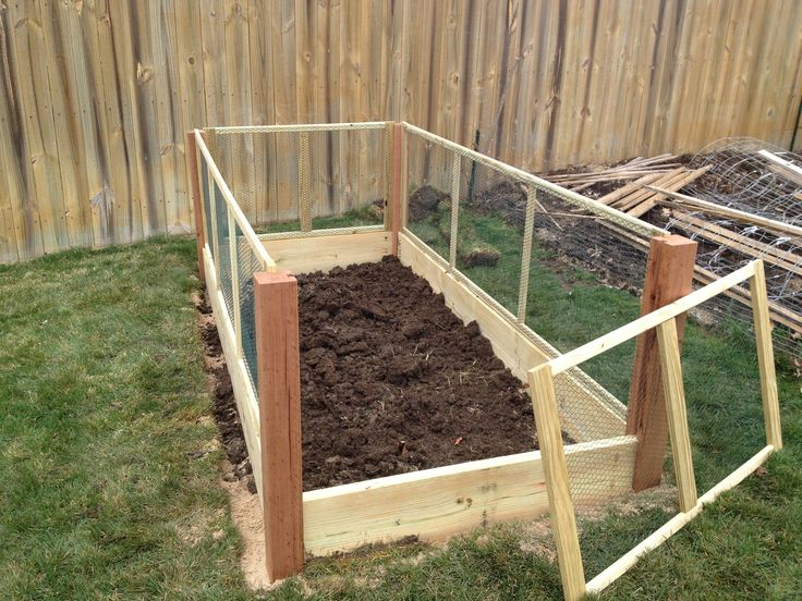 Rabbits Raised Bed Garden Installed Next To My Existing