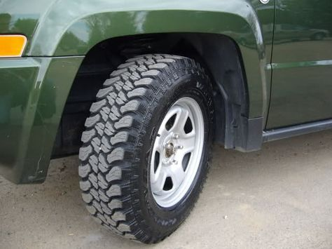 """225/75/16 Wrangler Territory Tires on Stock 16"""" Rims Now with 100% more pics! - Jeep Patriot Forums"""