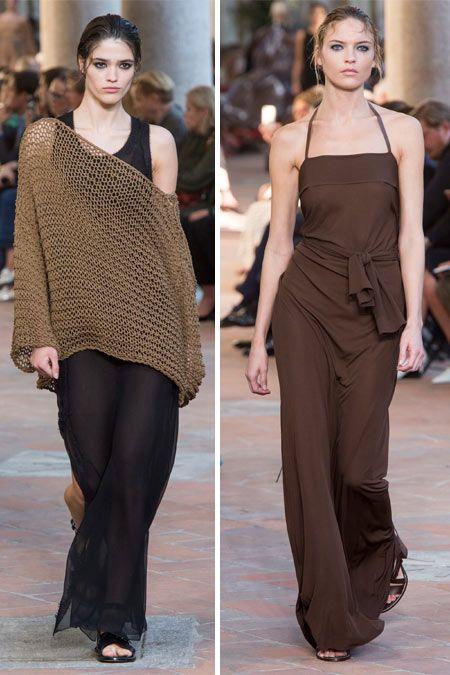 Платье и сарафан в стиле минимализм Alberta Ferretti весна-лето 2018 40828ca106a