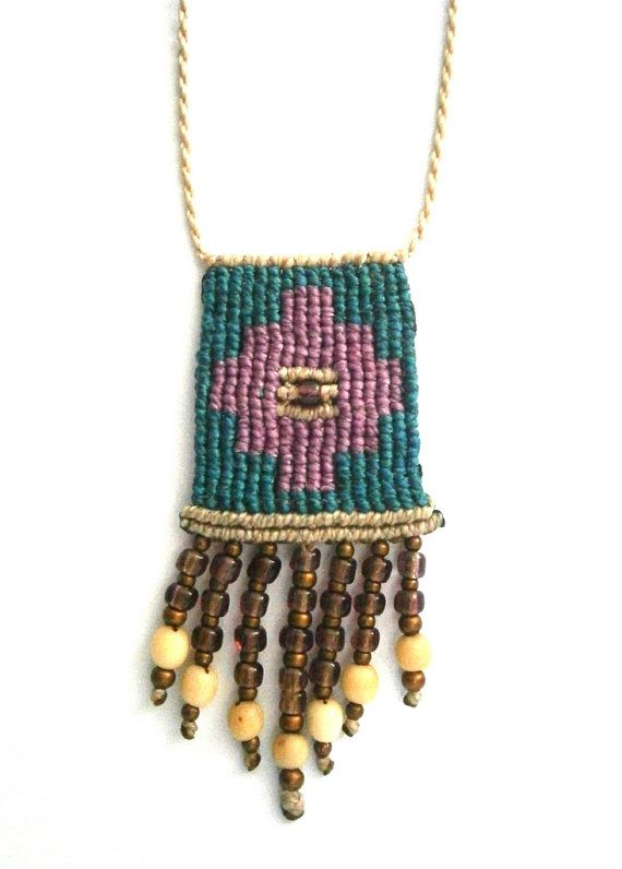 Macrame necklace/Boho necklace/Hippie chic by Ancientmacrame
