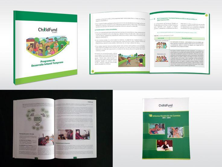 ChildFund Ecuador. Desarrollo, diagramación e ilustración de productos editoriales para la ONG.