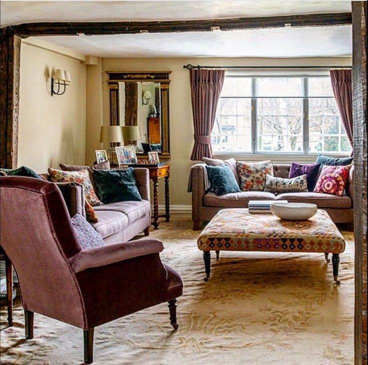 Les 1742 meilleures images propos de cottage interiors for Rideaux cottage anglais