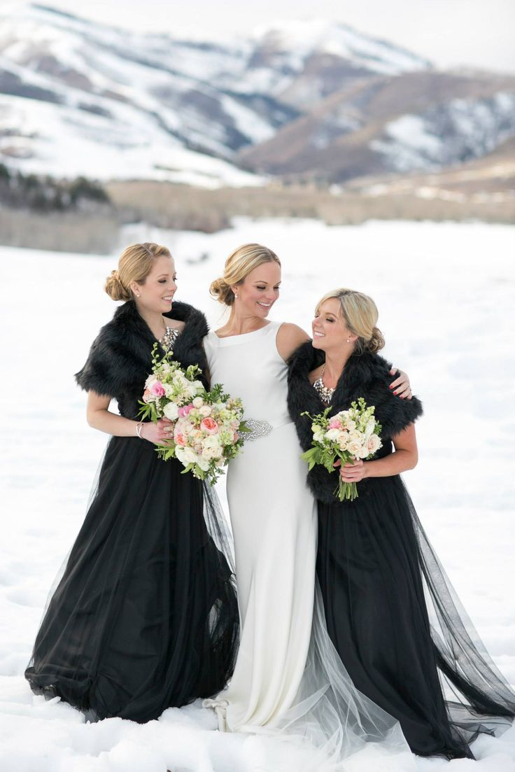 7 best dress images on pinterest park city winter weddings and utah fab black tulle bridesmaids dresses winter bride amelia park city wedding photo ombrellifo Choice Image