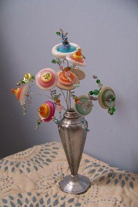 Button Flowers - JUNKMARKET Style