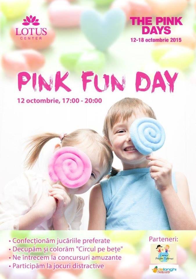 LUNI 12 octombrie distractia se muta in Lotus Oradea ! Va asteptam incepand cu ora 17:00- 20:00 la PINK FUN DAY ! O sa fim creativi, o sa ne folosim imaginatia ca sa cream cele mai frumoase jucarii si o sa ne jucam. Va invitam pe toti la cea mai distractiva zi de LUNI a lunii octombrie ! Nu trebuie sa ratati :) Participarea este gratuita !