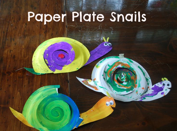Preschool Activity Ideas   Toddler Activity Ideas   Mommy With Selective Memory: Easy Craft for Kids: Paper Plate Snails