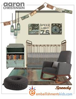 Industrial Style nursery by Embellishments Kids: Boys Rooms and Nursery Ideas - 15 Mood Boards For Boys