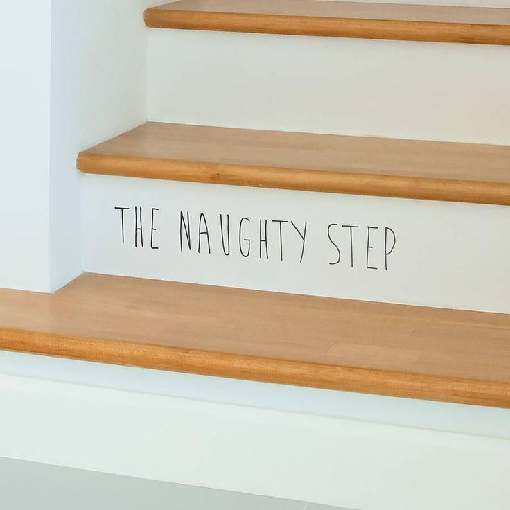 'the naughty step' children's wall sticker by oakdene designs | notonthehighstreet.com