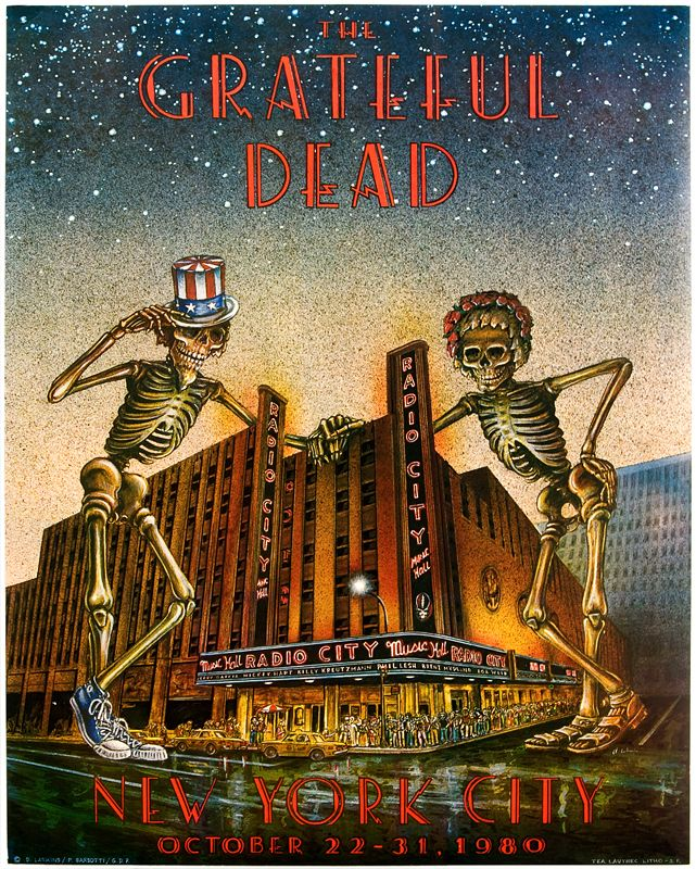 grateful dead poster images | Grateful Dead Radio City Music Hall Concert Poster