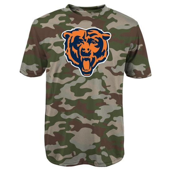 Chicago Bears Camo Youth Sublimated Synthetic T-Shirt by ...
