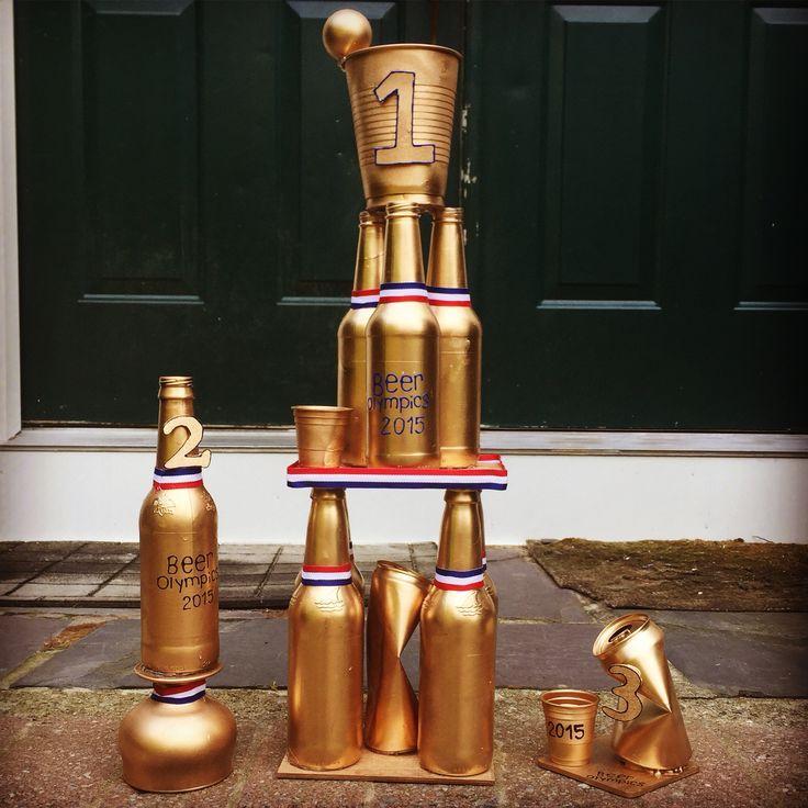 Beer Olympics trophy #beerolympics #beerolympicstrophy | Bachelorette Party Beer…