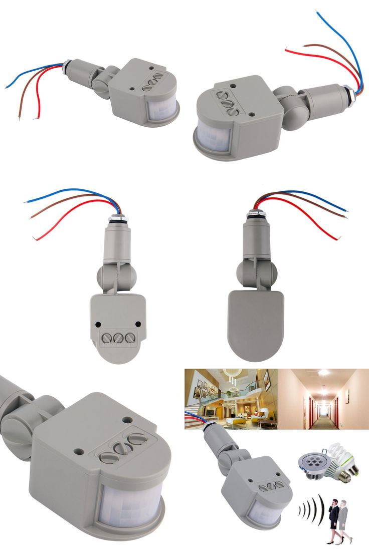 [Visit To Buy] 1Pc New Motion Sensor Light Switch Outdoor AC 220V Automatic  Infrared