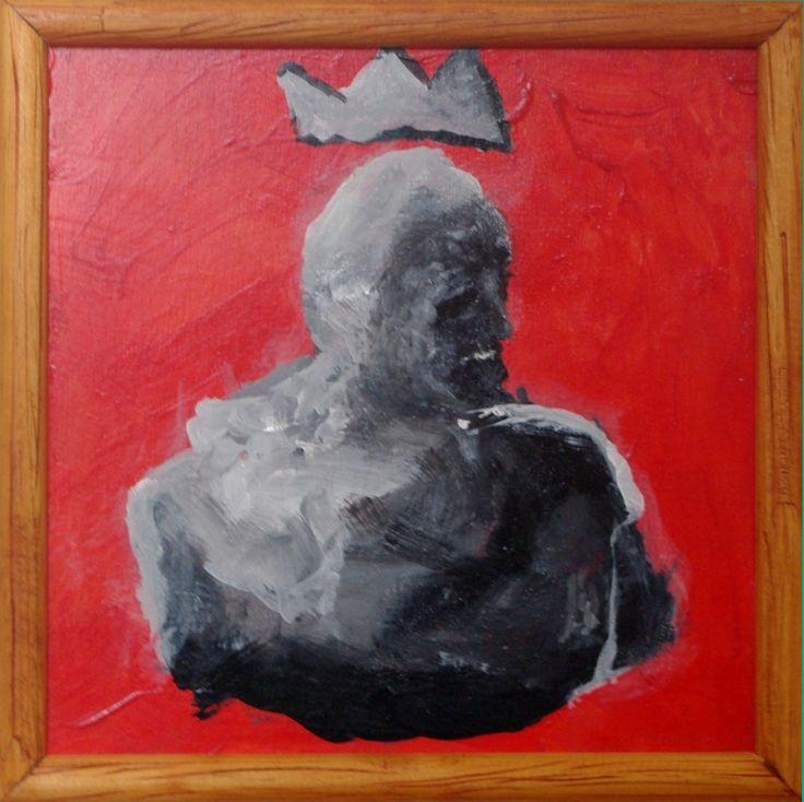 """""""KING"""" Acrílico sobre terciado 20 x 20 cms."""