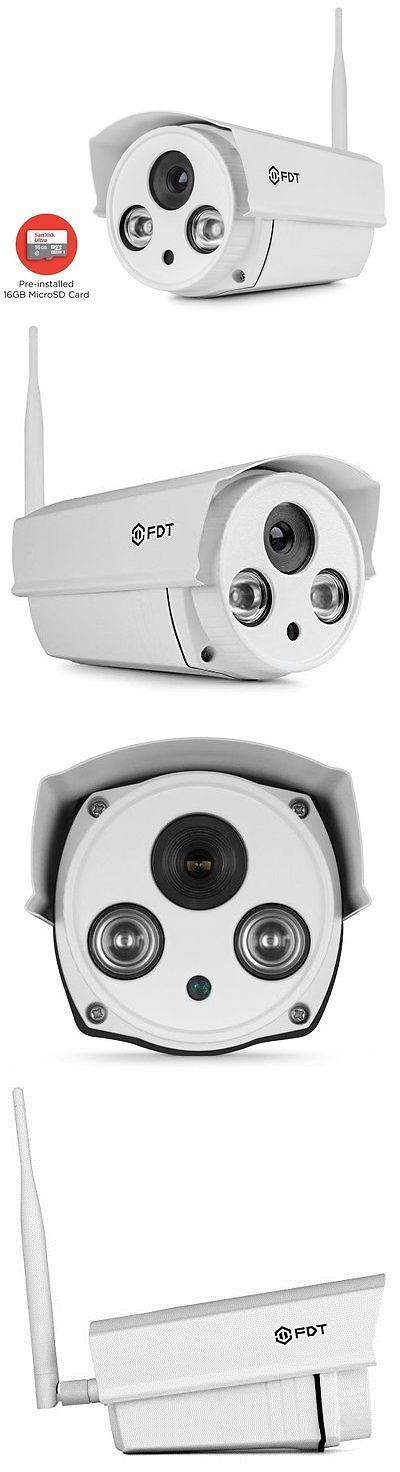 Security Cameras: Fdt 1080P Hd Wifi Bullet Ip Camera 2.0 Megapixel Outdoor Wireless Security Cam -> BUY IT NOW ONLY: $98.39 on eBay!
