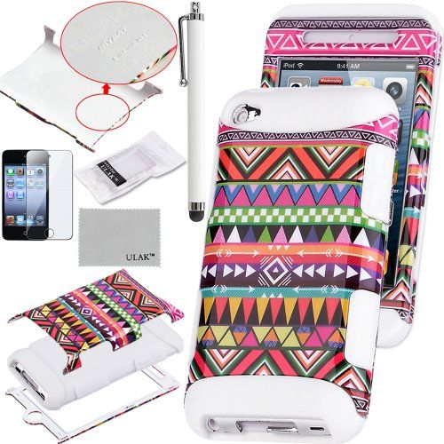 Pandamimi ULAK(TM) 3-Piece Hybrid High Impact Case Pink Tribal Pattern with White Silicone Inner Soft Shell for Apple iPod Touch Generation 4 with Free Stylus + Screen Protector ULAK,http://www.amazon.com/dp/B00D76YNGG/ref=cm_sw_r_pi_dp_AVZOsb0A6RCN56XB