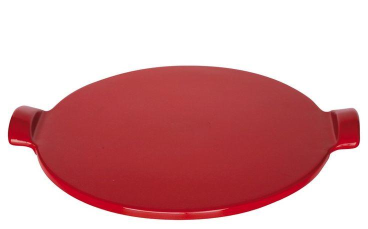 Kamień do pieczenia pizzy duży - czerwony - Emile Henry - DECO Salon #pizza #stone #baking #kitchenaccessories
