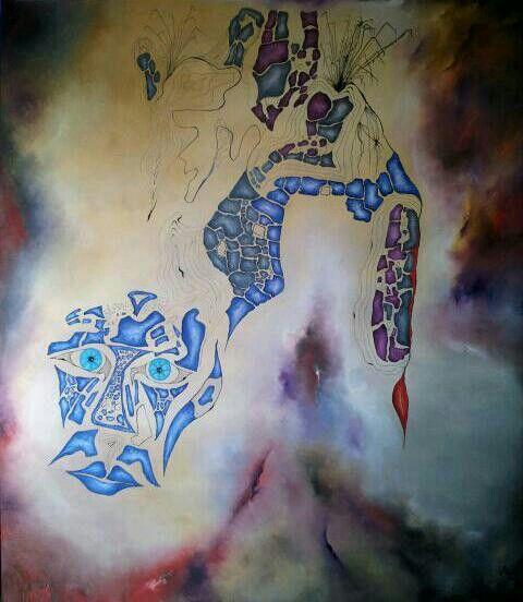 By Jesús Ojeda. Mask. (140x120 cm). Year 2013