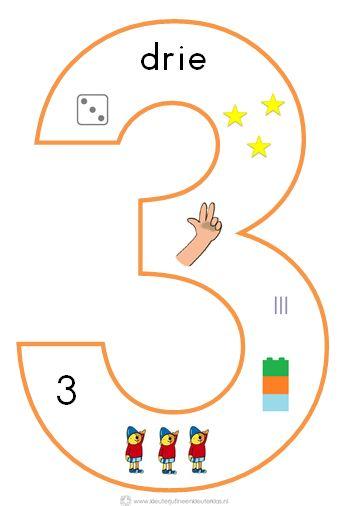* Cijfersymbolen om in de klas te hangen | Beginnende gecijferdheid. 3-9