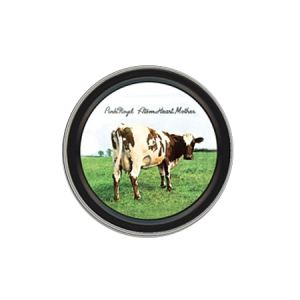 Pink Floyd Atom Heart Mother Round Tin - The Pink Floyd Atom Heart Mother Round Tin shows the artwork from the 1970 album, Atom Heart Mother, and is the ideal place to store anything in need.