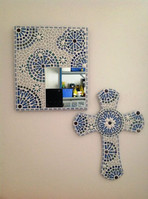 Blue mirror & cross