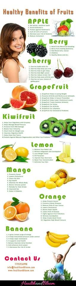 Beneficios saludables de las frutas  #Health #Well-being #Healthy  Re-pinned by www.avacationrental4me.com