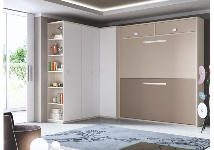 Dormitorios juveniles con camas abatibles dormitorios for Dormitorios juveniles abatibles