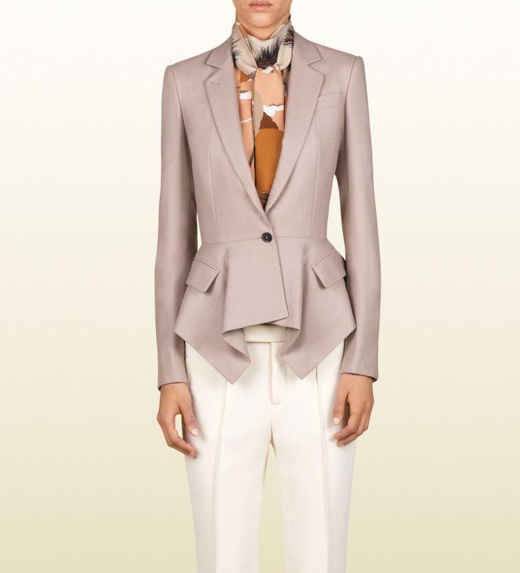 giacca con balze peplo - GUCCI