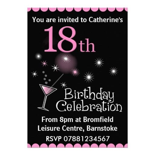 22 best 18Th Birthday Party Invitations images on Pinterest 18th