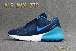 new product c7da9 07107 Mens Nike Air Max 27C Kpu Running Shoes Navy Blue Royal Blue White