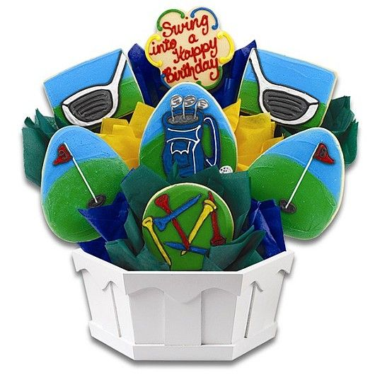 The perfect birthday gift for the golf lover & sweet tooth. A cookie bouquet from Cookies by Design.