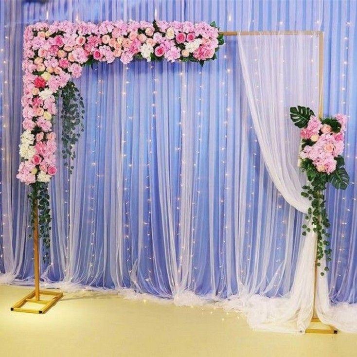 44 Simple Diy Wedding Decor Ideas On A Budget 43 Vippanorama Com Wedding Stage Decorations Wedding Background Decoration Diy Wedding Decorations