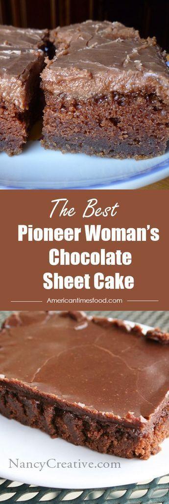 Pioneer Womanu2019s Chocolate Sheet Cake Pioneer …