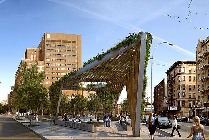 Studio a+i Reimagines AIDS Memorial Park Design as a Fresh Green Triangular Canopy, NYC