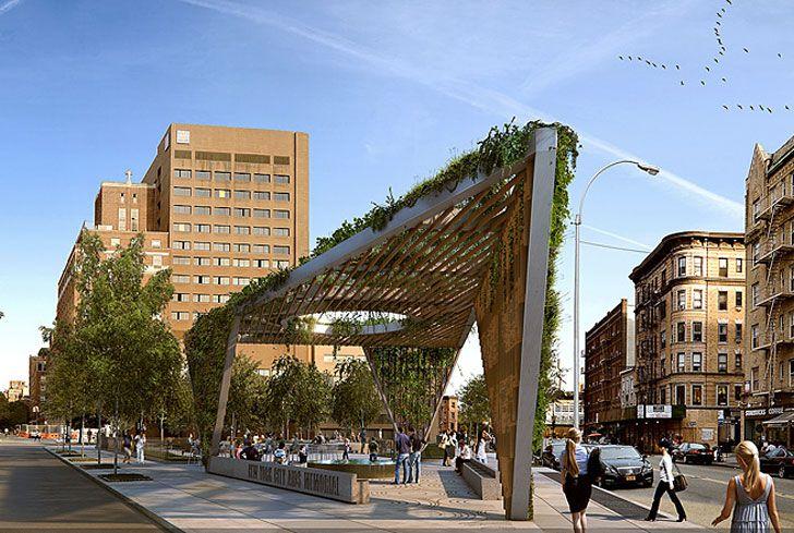 Studio a i Reimagines AIDS Memorial Park Design as a Fresh Green Triangular Canopy | Inhabitat New York City