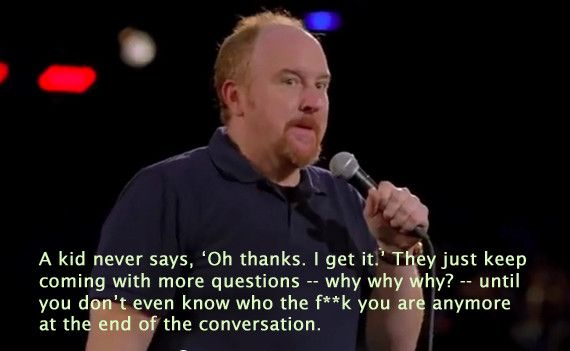 "Louis C.K. and the truth about conversations with kids who ask ""why?"" all the time."