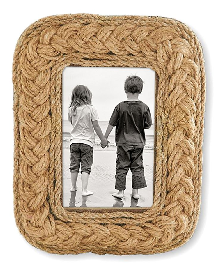 look at this square woven rope frame on zulily today