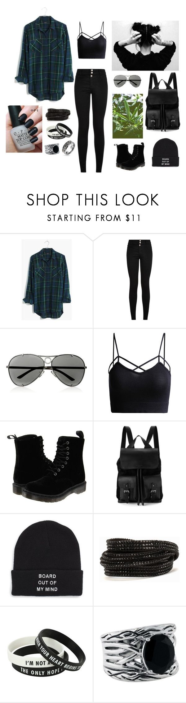 """""""Grunge"""" by sundaymigraine ❤ liked on Polyvore featuring Madewell, Valentino, Dr. Martens, Aspinal of London, Vans, Pieces, OPI, Effy Jewelry, Bling Jewelry and grunge"""