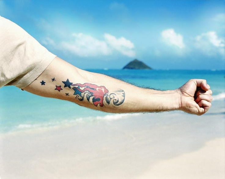 Matthew Fox (Jack from Lost) arm tattoo