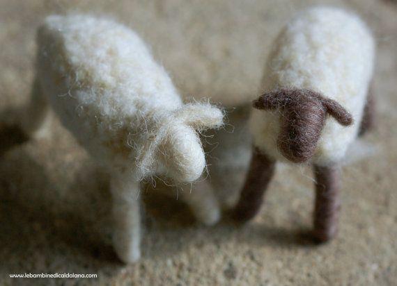 Pecore, presepe lana fiaba ispirazione Waldorf