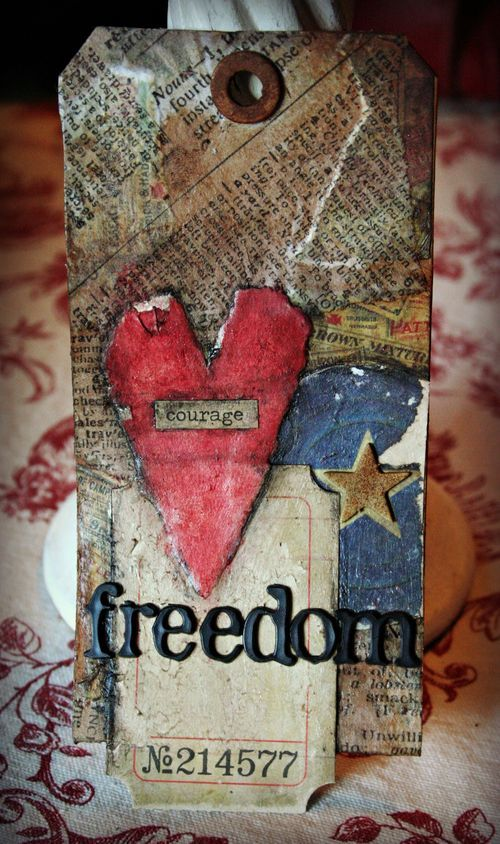 3> the layers and pops of color: Freedom Tags, Atc S Tags, Holiday Gift Tags, Holidays Gifts Tags, Pop Of Colors, Colors Bookmarks, Creative Tags, Beautiful Bookmarks, Tags Cards Layout