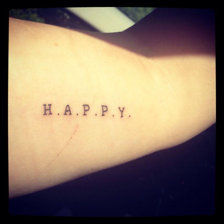 H. A. P. P. Y happy