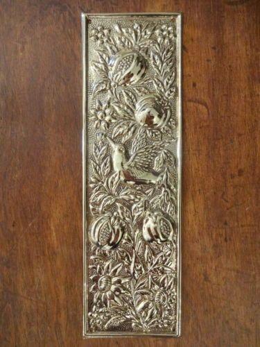 10-X-BRASS-ARTS-CRAFTS-FINGER-DOOR-PUSH- & 8 best door push plate images on Pinterest   Antique hardware ...