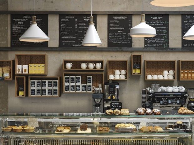 Cornerstone Café | Londres Estúdio Paul Crofts.
